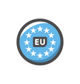 europe union round sign icon cartoon vector image