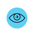 eye icon line vision eyeball outline eye vector image