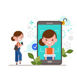 face id facial recognition biometric vector image vector image