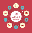 flat icons shorts pants lingerie and other vector image