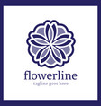 flower line logo vector image vector image