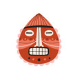 funny ancient african tribal mask with closed eyes vector image vector image