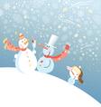 funny snowmen vector image
