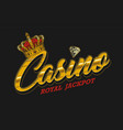 gambling vintage colorful badge vector image