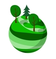 Green abstract planet with trees vector image vector image