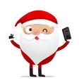 happy christmas character santa claus cartoon 012 vector image vector image