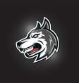 husky wolf head esport gaming mascot logo vector image vector image