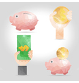 infographic element in polygon design for finance vector image