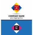 Letter B alphabet logo vector image