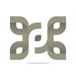 Logo Letter Infinity Alphabet Lettering Design vector image vector image