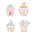 lovely cakes vector image vector image