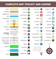 map icon legend symbol sign toolkit element vector image
