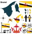 Map of Brunei vector image