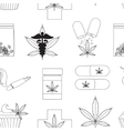 Medical marijuana pattern vector image vector image