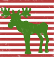 moose greeting card vintage vector image vector image