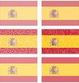 Mosaic Spain flag set vector image