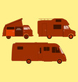 Motorhome Silhouette vector image