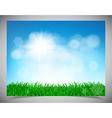 natural light background vector image