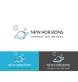 New horizons business logo design in three colors vector image vector image