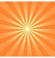 Orange sunbeam blank background vector image