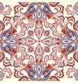 oriental floral seamless pattern flower geometric vector image vector image