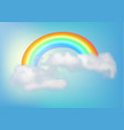 rainbow in the sky with a cloud vector image vector image