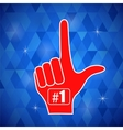 Red Foam Finger vector image