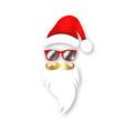 santa claus christmas wear mirrored sunglasses vector image vector image