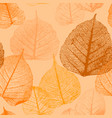 seamless floral pattern with autumn leaves vector image vector image