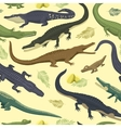 seamless pattern with crocodile vector image vector image