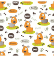 Seamless pattern with dog 4 vector image vector image