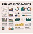 Set of Financial Infographics Elements vector image vector image