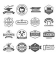 set of logotypes elements labels badges vector image vector image