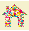 Spring time house vector image vector image