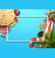 summer holidays blank background vector image vector image