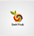 swirl fruit logo icon element and template vector image vector image