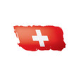 switzerland flag on a white vector image