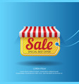 tag with sale advertising in design vector image vector image