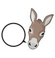 talk donkey vector image