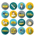 Taxi icons flat set vector image