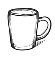 Tea cup hand drawn Cup icon vector image