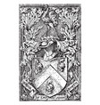 the coat of arms of captain john smith vintage vector image vector image