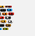 traffic jam on road road transport highway vector image vector image