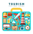 Travel holiday vacation concept with flat tourism vector image vector image