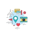 Travel Tourism Technology background Online ticket vector image