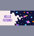 universe motivation banner with cosmos vector image