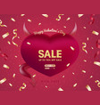 valentines or womens day banner for sale card vector image