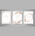 vintage wedding save date invitation cards vector image vector image