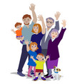 waving generations vector image vector image