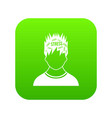 word stress in the head of man icon digital green vector image